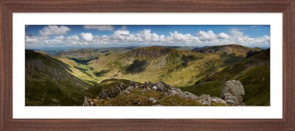Helvellyn to St Sunday Crag - Framed Print with Mount