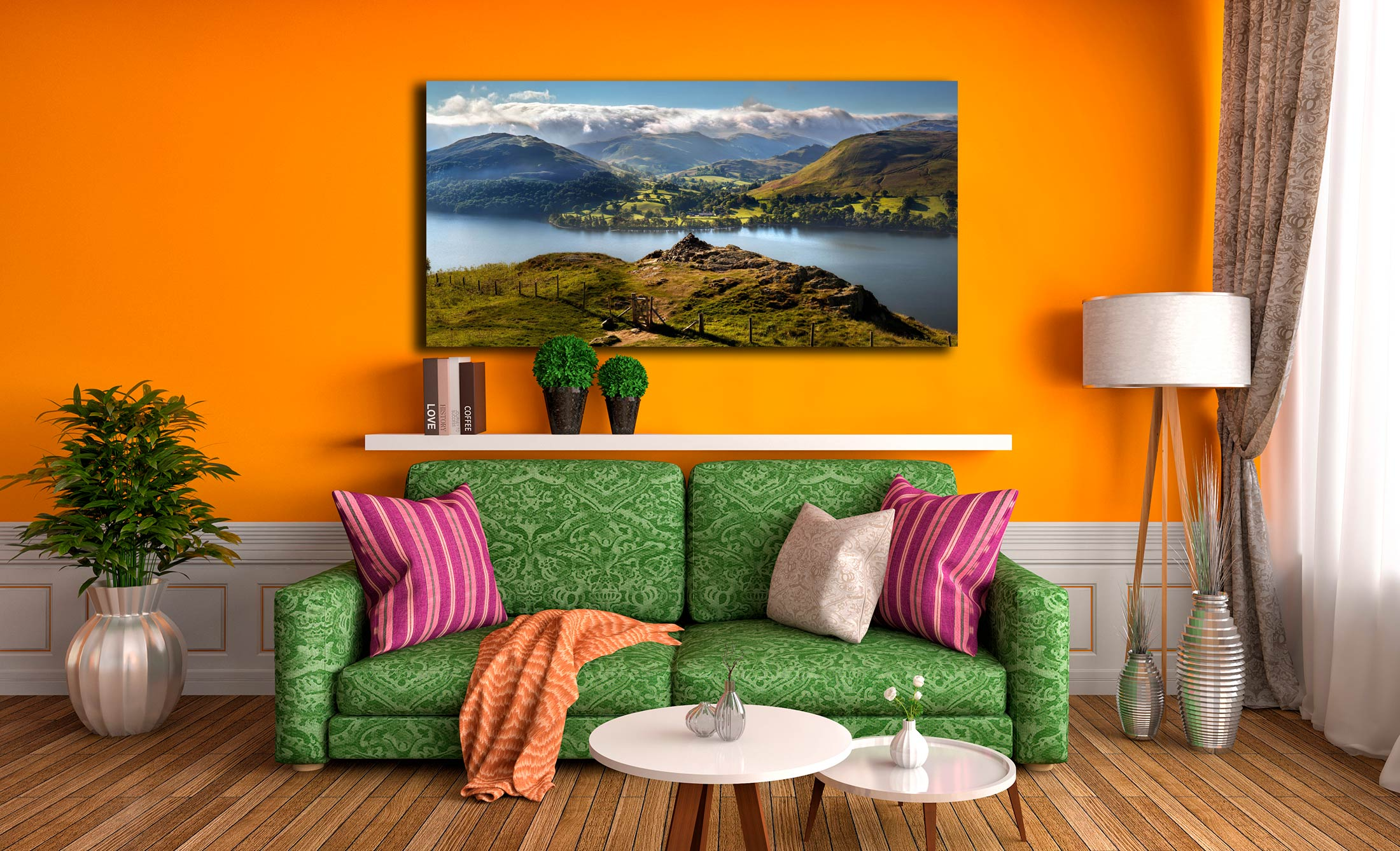 Gowbarrow to Martindale - Print Aluminium Backing With Acrylic Glazing on Wall