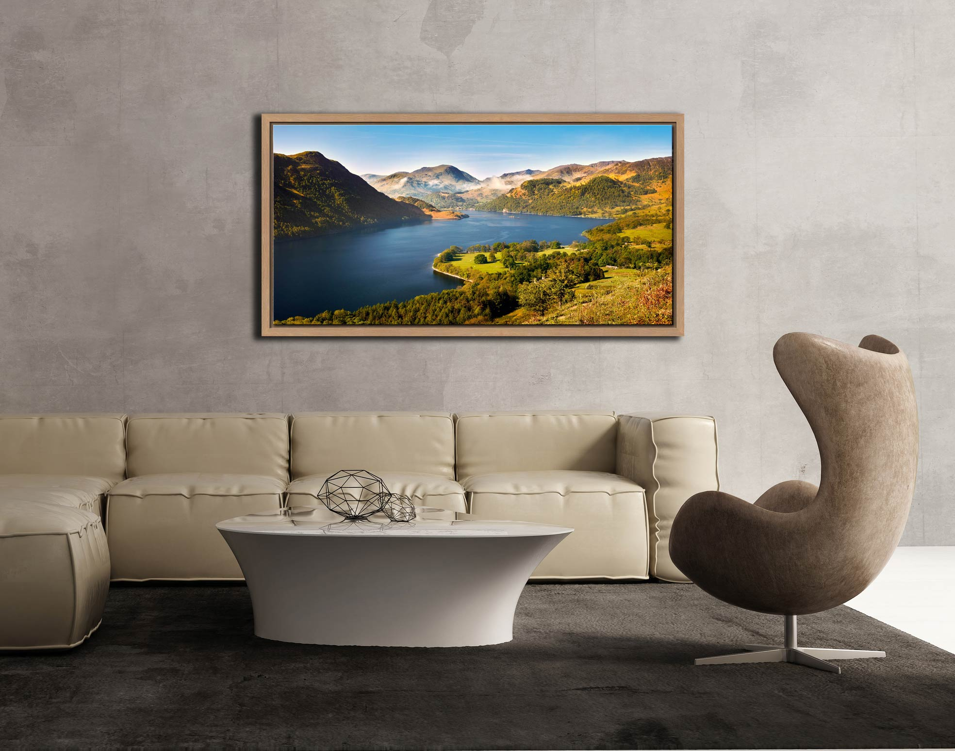Spring at Ullswater - Oak floater frame with acrylic glazing on Wall