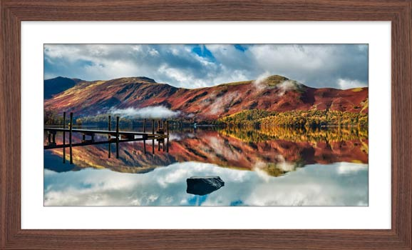 Late Autumn at Ashness Jetty - Framed Print with Mount