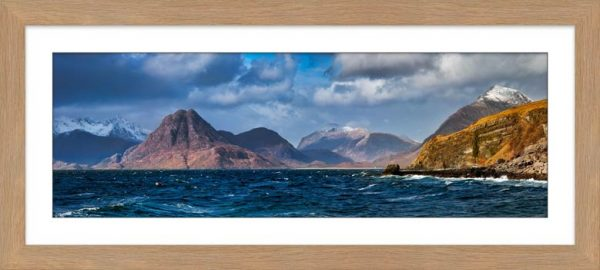 Cuillins From Elgol - Framed Print with Mount