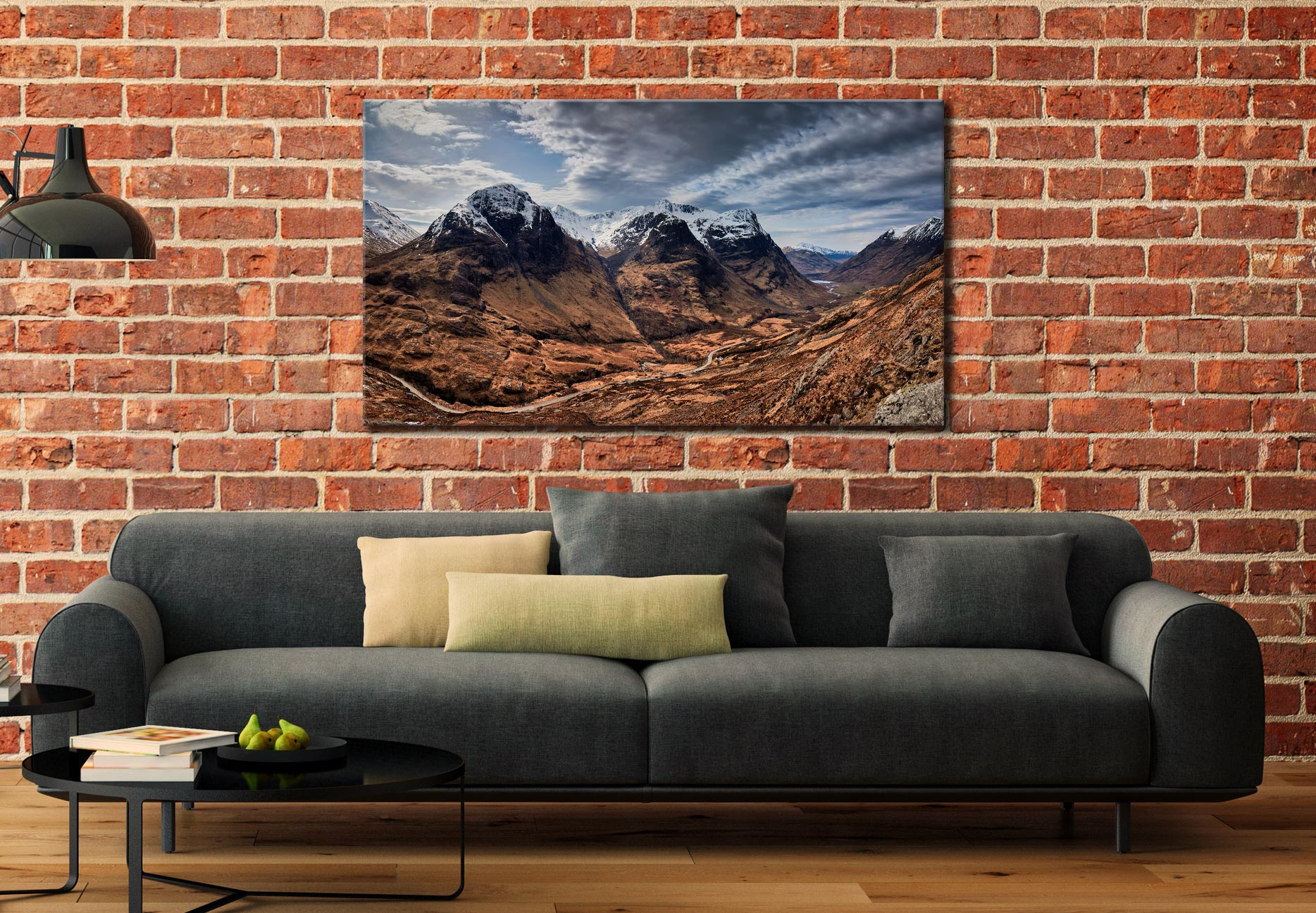 Winter Colours of Three Sisters - Scotland Canvas on Wall
