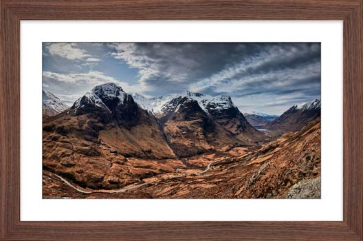 Winter Colours of Three Sisters - Framed Print with Mount