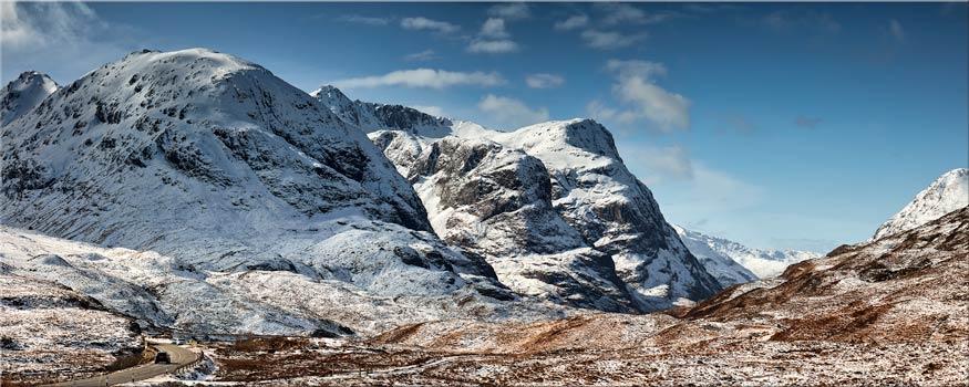 Glencoe in the Snow - Canvas Print
