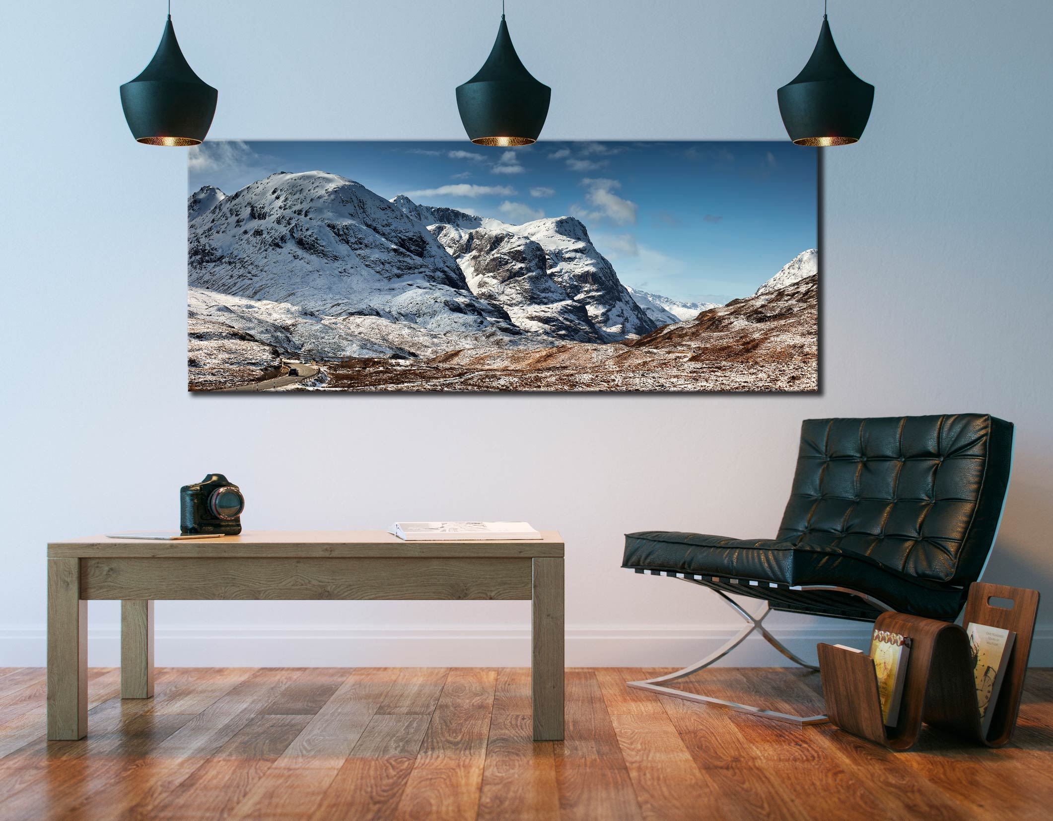 Glencoe in the Snow - Canvas Print on Wall