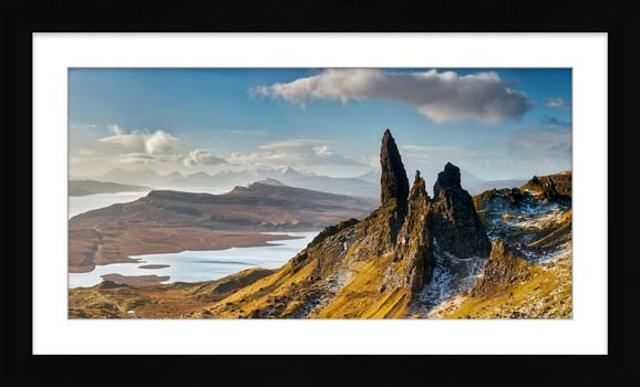 Old Man of Storr and Cuillins - Framed Print with Mount