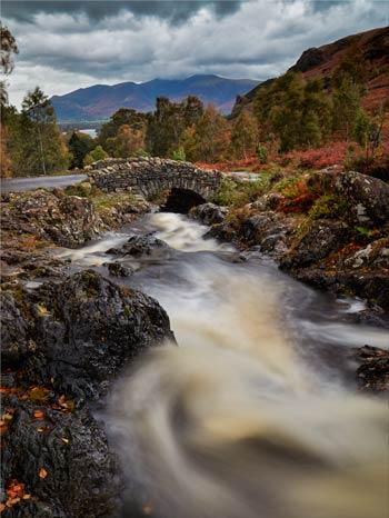 Ashness Bridge Stormy Day - Lake District Canvas