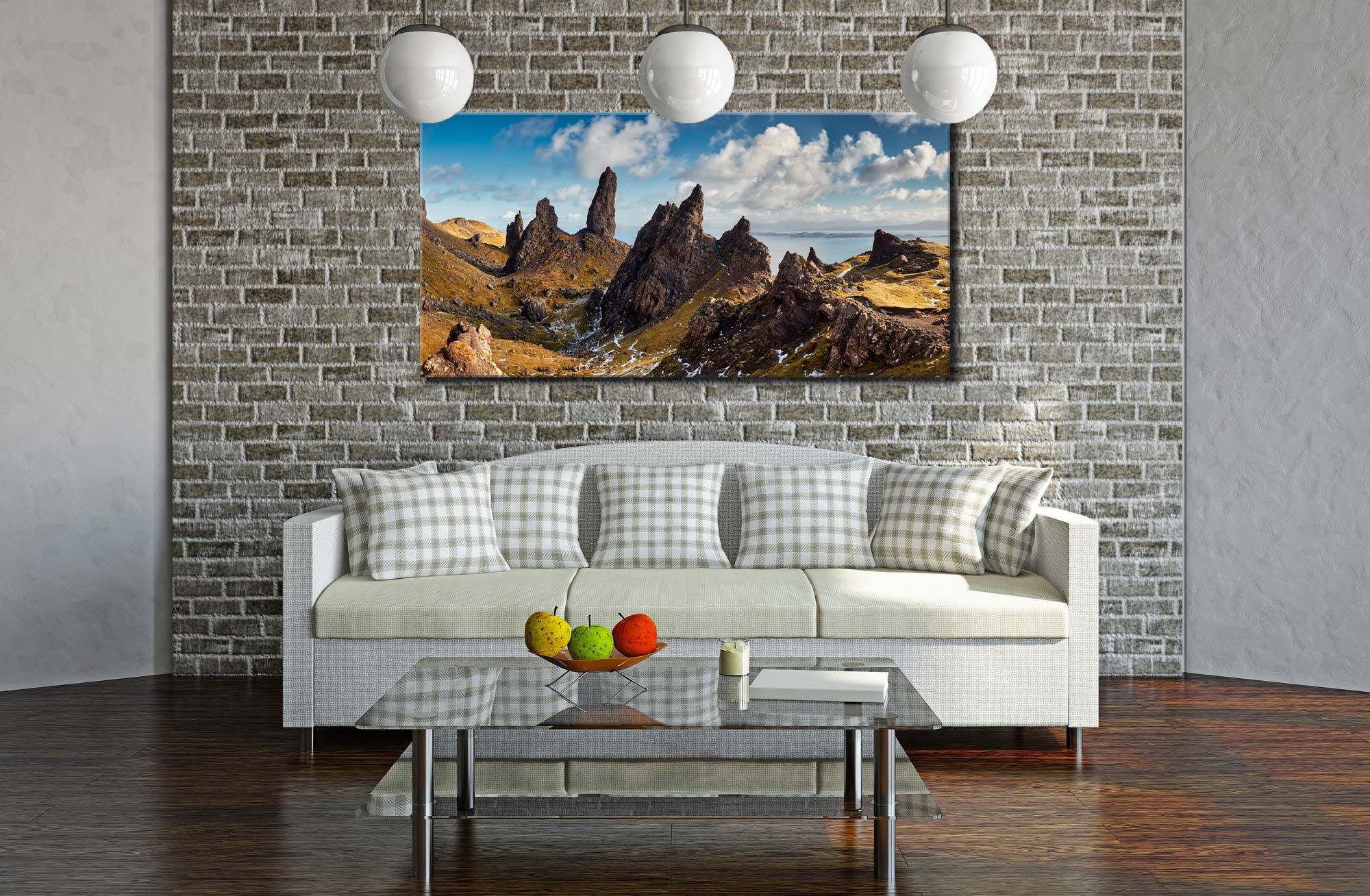 The Leaning Towers of Skye - Canvas Print on Wall