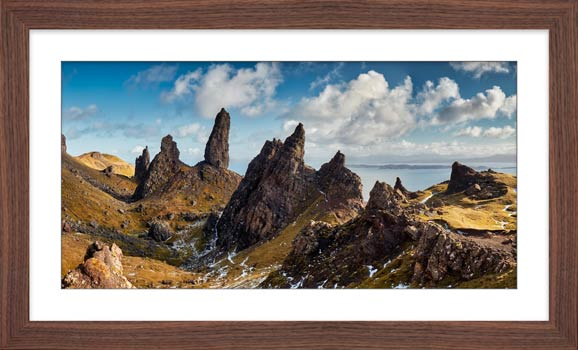 The Leaning Towers of Skye - Framed Print with Mount