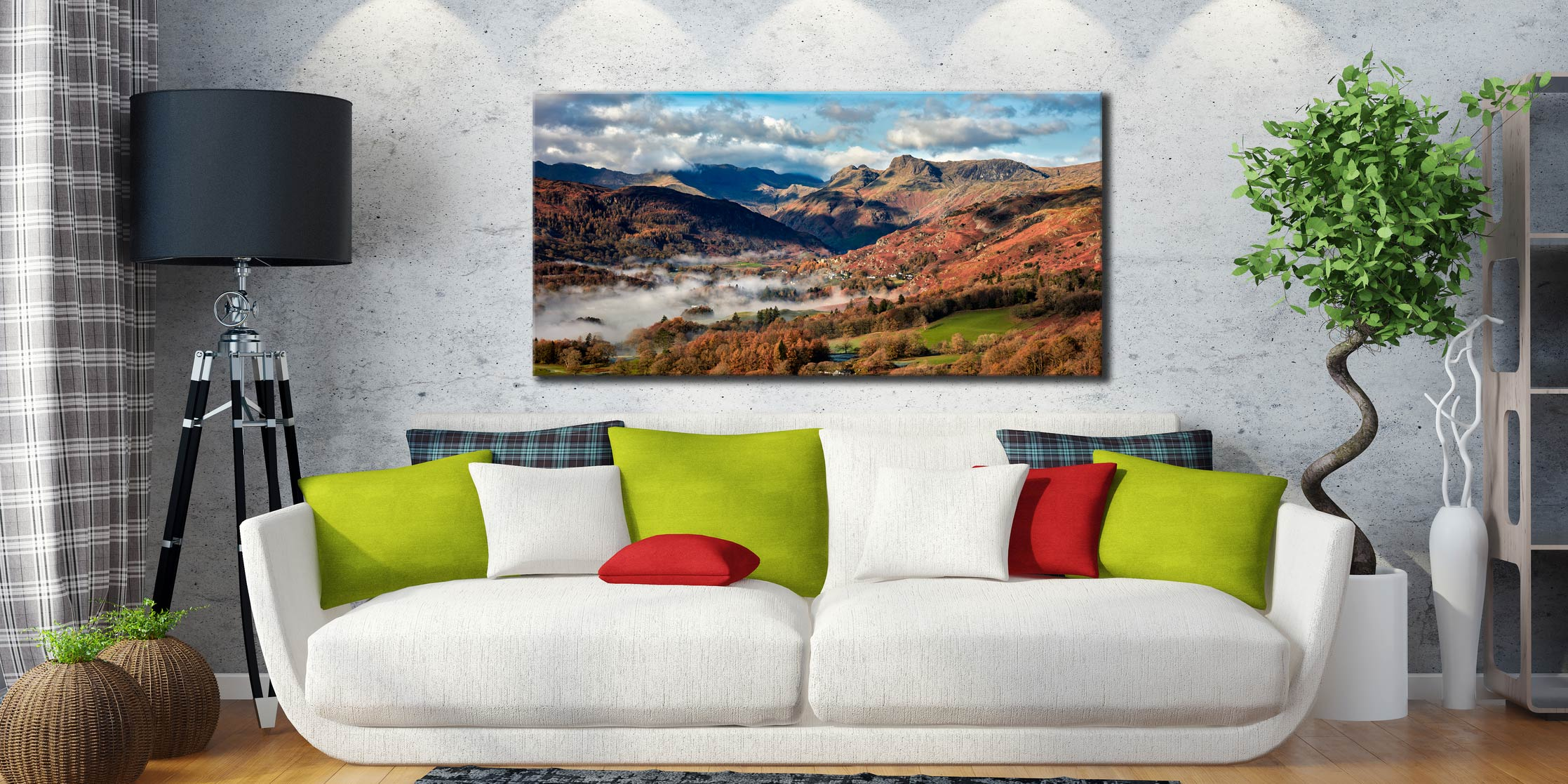 Chapel Stile Langdale - Canvas Print on Wall