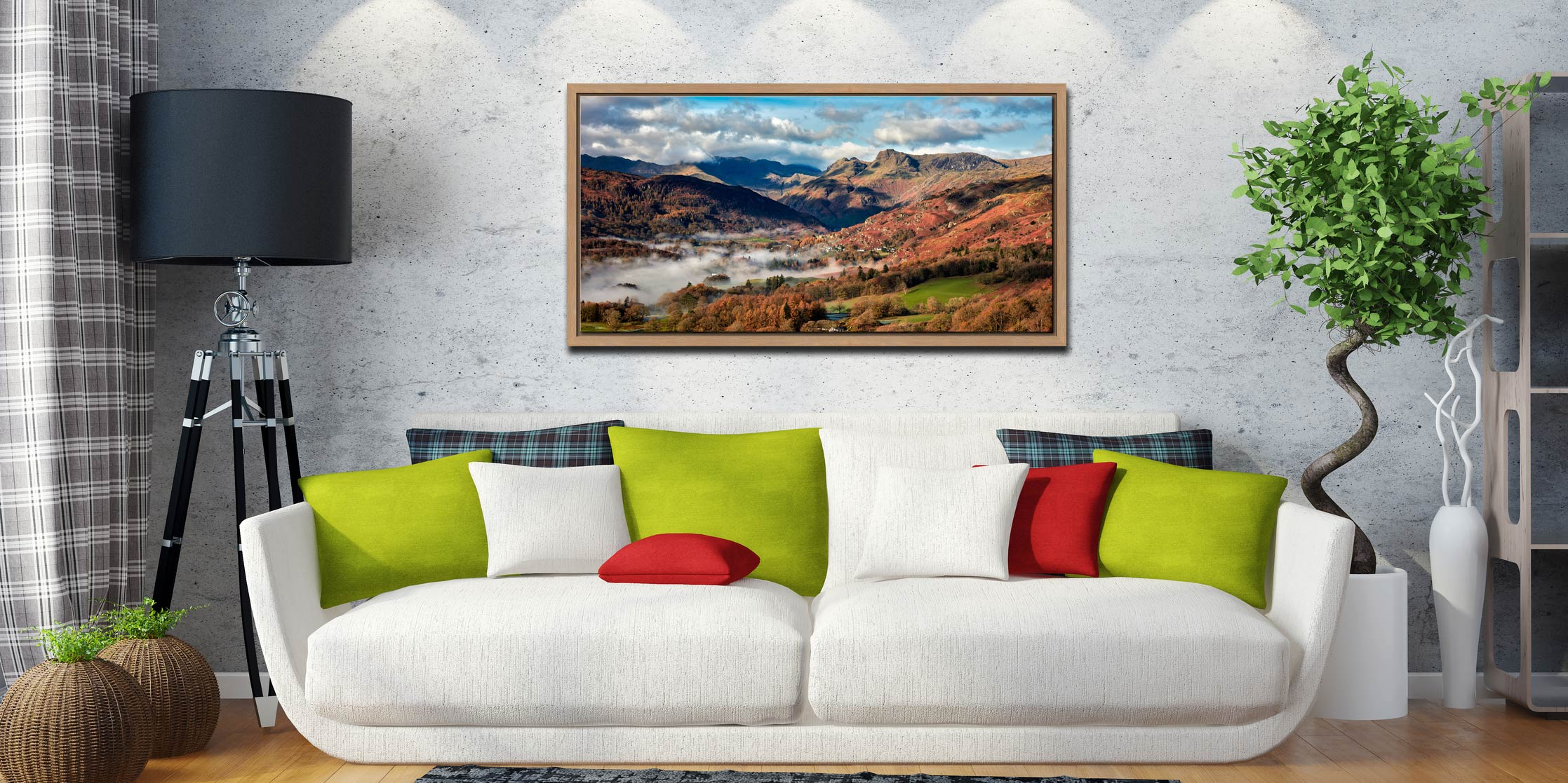 Chapel Stile Langdale - Oak floater frame with acrylic glazing on Wall