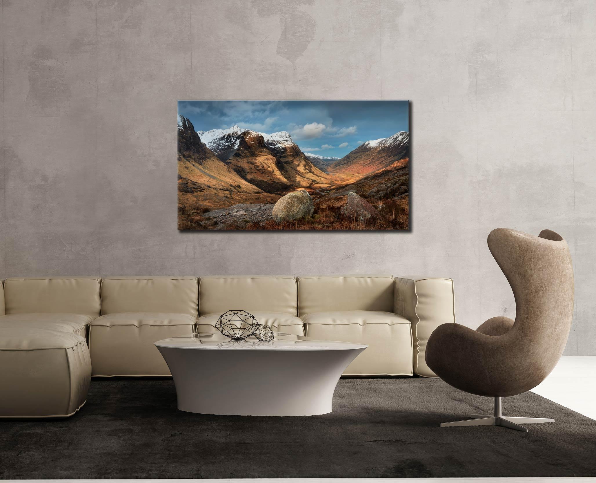 Glencoe Stones - Scotland Canvas on Wall