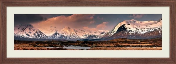 Mountains Around Rannoch Moor - Framed Print with Mount