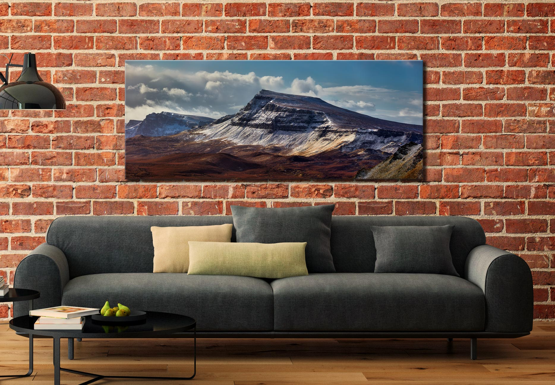 Winter on the Trotternish Mountains - Canvas Print on Wall