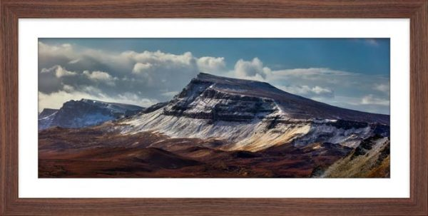 Winter on the Trotternish Mountains - Framed Print with Mount