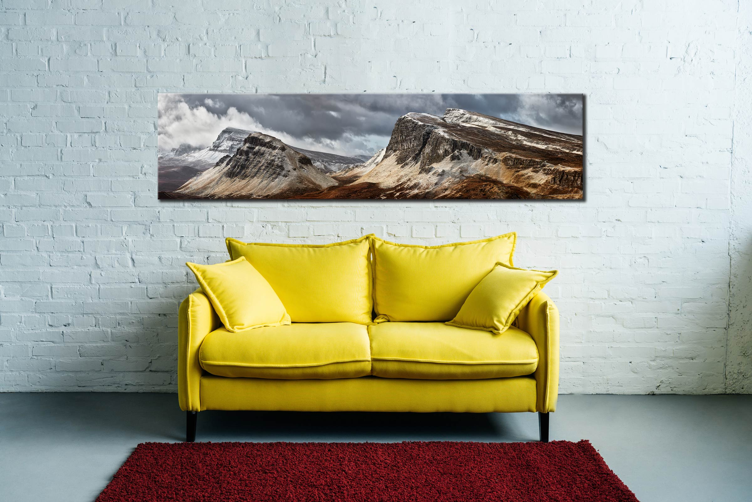 Snow on the Cleat and Dun Dubh - Scotland Canvas on Wall
