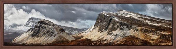 Snow on the Cleat and Dun Dubh - Modern Print