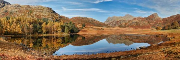 Blea Tarn Autumn Panorama - UltraHD Print with Aluminium Backing