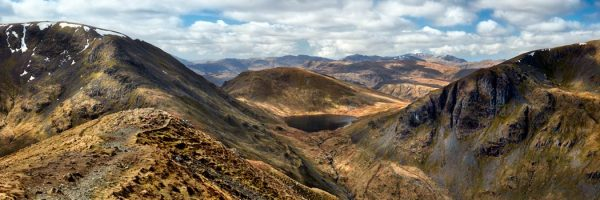 Grisedale Tarn From Deepdale Hause - UltraHD Print with Aluminium Backing
