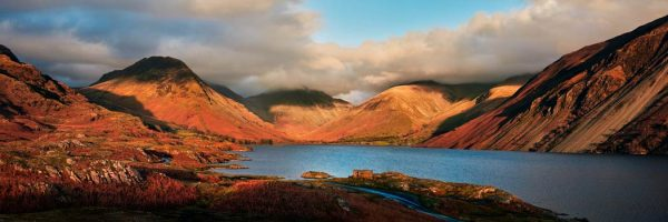 Wast Water Late Afternoon Sun - UltraHD Print with Aluminium Backing